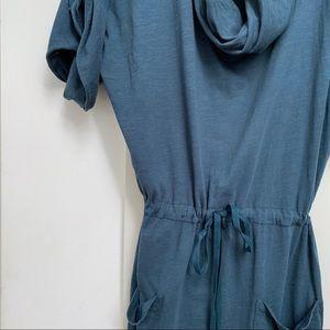 VELVET cowlneck tshirt dress